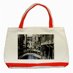 Vintage Venice Canal Classic Tote Bag (red)