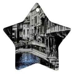 Vintage Venice Canal Star Ornament (Two Sides)