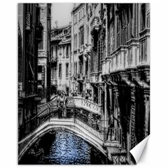 Vintage Venice Canal Canvas 16  x 20  (Unframed)