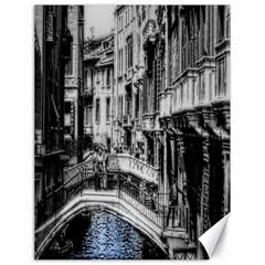 Vintage Venice Canal Canvas 18  x 24  (Unframed)