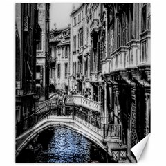 Vintage Venice Canal Canvas 20  x 24  (Unframed)