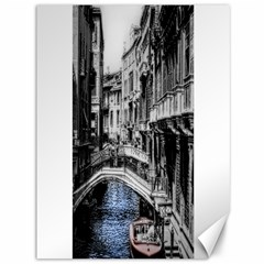 Vintage Venice Canal Canvas 36  x 48  (Unframed)