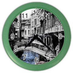 Vintage Venice Canal Wall Clock (color)