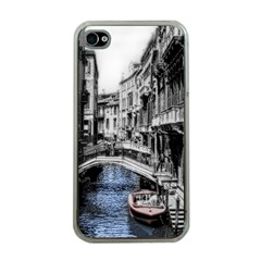 Vintage Venice Canal Apple Iphone 4 Case (clear)