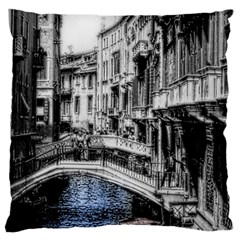 Vintage Venice Canal Large Cushion Case (single Sided)