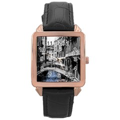 Vintage Venice Canal Rose Gold Leather Watch