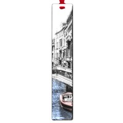 Vintage Venice Canal Large Bookmark