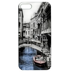 Vintage Venice Canal Apple Iphone 5 Hardshell Case With Stand