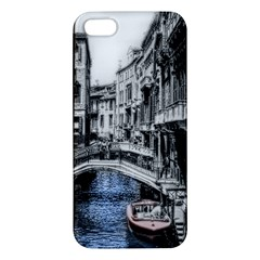 Vintage Venice Canal Apple Iphone 5 Premium Hardshell Case