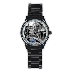 Vintage Venice Canal Sport Metal Watch (black)