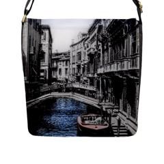 Vintage Venice Canal Flap Closure Messenger Bag (large)