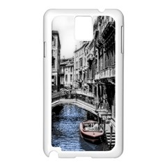 Vintage Venice Canal Samsung Galaxy Note 3 N9005 Case (white)