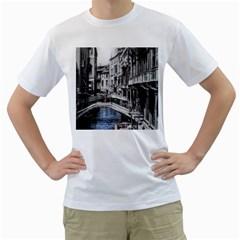 Vintage Venice Canal Men s T-Shirt (White)