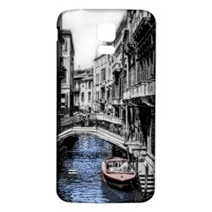 Vintage Venice Canal Samsung Galaxy S5 Back Case (White)