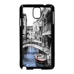 Vintage Venice Canal Samsung Galaxy Note 3 Neo Hardshell Case (Black)