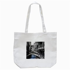 Vintage Venice Canal Tote Bag (White)