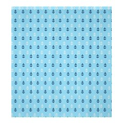 Anchors in Blue and White Shower Curtain 66  x 72  (Large)