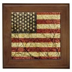 Vinatge American Roots Framed Ceramic Tile
