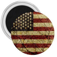 Vinatge American Roots 3  Button Magnet