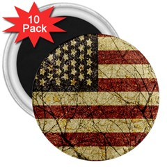 Vinatge American Roots 3  Button Magnet (10 Pack)