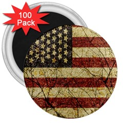 Vinatge American Roots 3  Button Magnet (100 pack)