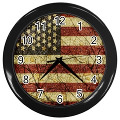 Vinatge American Roots Wall Clock (black)