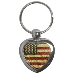 Vinatge American Roots Key Chain (heart)