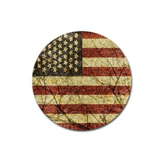 Vinatge American Roots Magnet 3  (Round)
