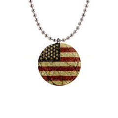 Vinatge American Roots Button Necklace