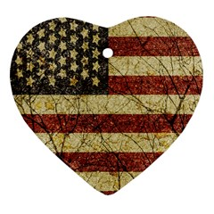 Vinatge American Roots Heart Ornament (two Sides)