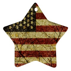 Vinatge American Roots Star Ornament (Two Sides)