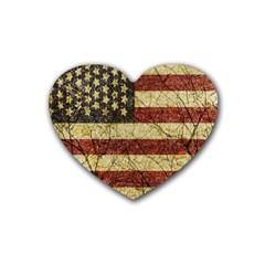 Vinatge American Roots Drink Coasters (Heart)