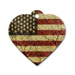 Vinatge American Roots Dog Tag Heart (one Sided)