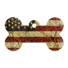 Vinatge American Roots Dog Tag Bone (one Sided)