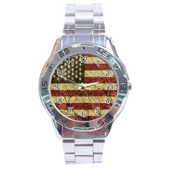 Vinatge American Roots Stainless Steel Watch