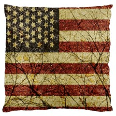 Vinatge American Roots Large Cushion Case (two Sided)
