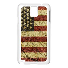 Vinatge American Roots Samsung Galaxy Note 3 N9005 Case (White)