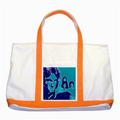 Led Zeppelin Digital Painting Two Toned Tote Bag