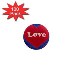 Love Theme Concept  Illustration Motif  1  Mini Button Magnet (100 Pack)
