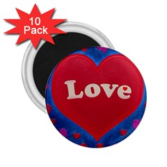 Love theme concept  illustration motif  2.25  Button Magnet (10 pack)