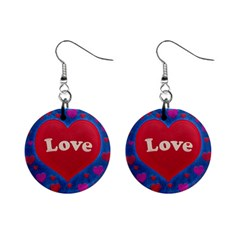 Love Theme Concept  Illustration Motif  Mini Button Earrings