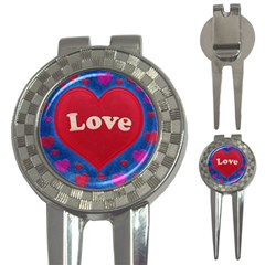 Love theme concept  illustration motif  Golf Pitchfork & Ball Marker