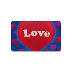 Love theme concept  illustration motif  Magnet (Name Card)
