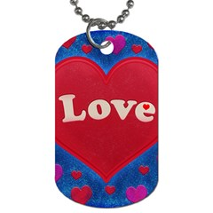Love Theme Concept  Illustration Motif  Dog Tag (one Sided)