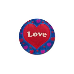 Love theme concept  illustration motif  Golf Ball Marker