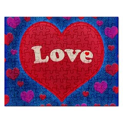 Love theme concept  illustration motif  Jigsaw Puzzle (Rectangle)
