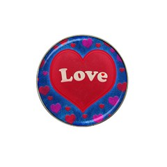 Love Theme Concept  Illustration Motif  Golf Ball Marker 4 Pack (for Hat Clip)