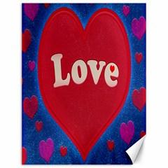 Love theme concept  illustration motif  Canvas 12  x 16  (Unframed)