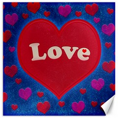Love theme concept  illustration motif  Canvas 16  x 16  (Unframed)