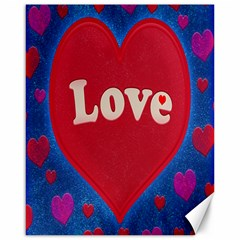Love theme concept  illustration motif  Canvas 16  x 20  (Unframed)